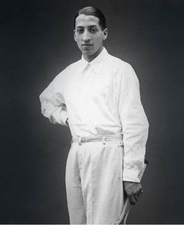 Lacoste modelling a very early version of the polo shirt, starched collar