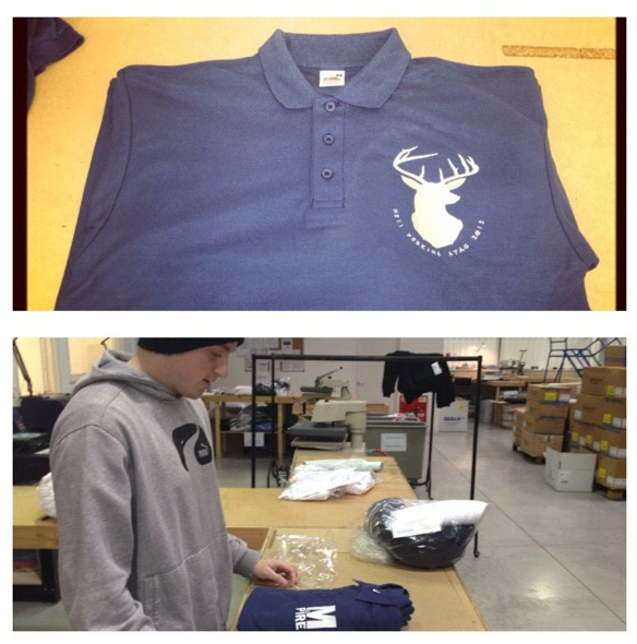Quality checking polo shirts