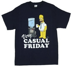 Casual Friday Homer t shirt 1 Thank T Shirts its Friday!