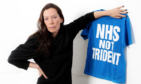 Katherine Hmanett against the cuts to the NHS