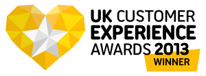 UKCEA13 Winner 300x111 Clothes2Order is awarded National Customer Experience Award