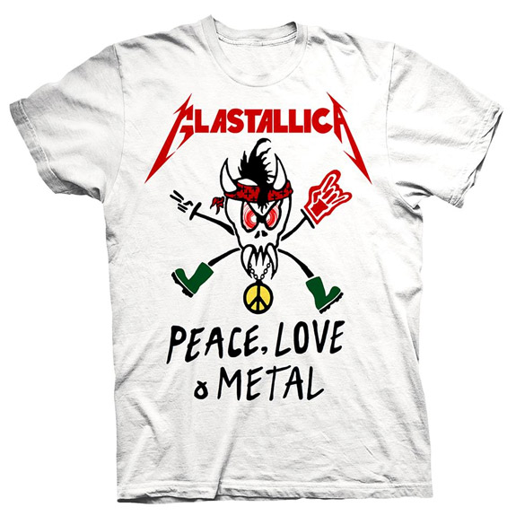glastallica2 Slogan t shirts   The Metallica way?